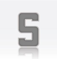 Alphabet S vector image