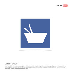Asian food icon - blue photo frame vector