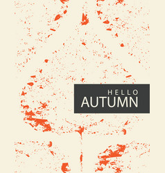 autumn banner with bright autumn poplar leaf vector image