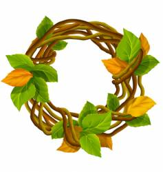 Autumn wreath decoration vector