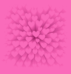 Background with pink heart vector