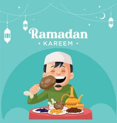 Banner design ramadan kareem vector