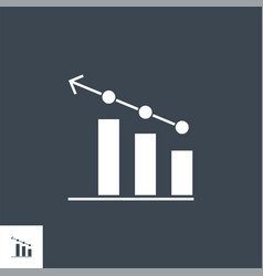 Bar chart related glyph icon vector