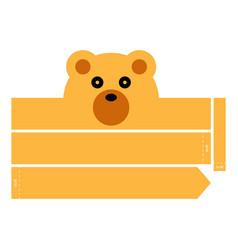 Bear headband vector