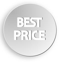 Best price sticker button sale vector