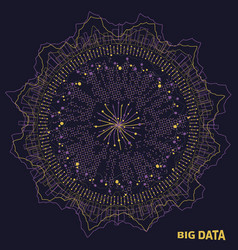 Big data visualization fractal elements with vector