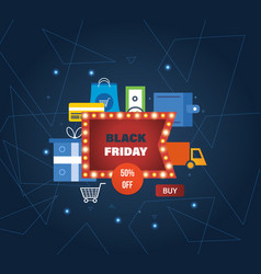 Black friday online shopping payment methods vector