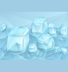 Blue crushed ice vector