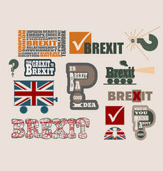 brexit relative design elements vector image vector image