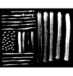 brush set and textures on a black background vector image