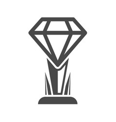 Champion trophy icon of diamond shape vector