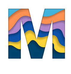 Colorful letter m vector