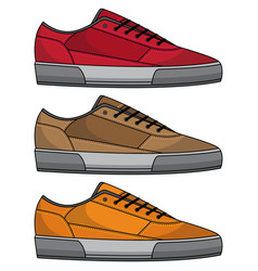 Cool shoe set vector