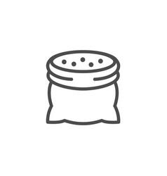 cotton sack line outline icon vector image