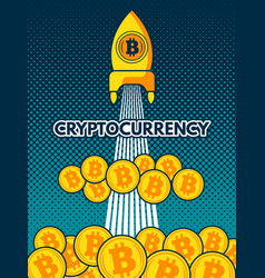 cryptocurrency background bitcoin to vector image