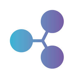cryptocurrency ripple symbol isolated icon vector image