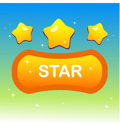 Cute stars on shape text box and blink stars vector