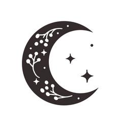 Divine beauty premade logo design black crescent vector