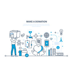 Donations help to health economic status vector