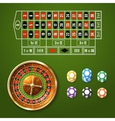 European Roulette Set vector