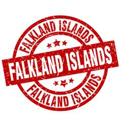 Falkland islands red round grunge stamp vector