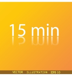 Fifteen icon symbol Flat modern web design with vector