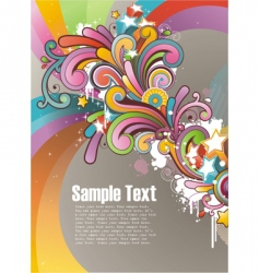 funky graphic design vector image vector image