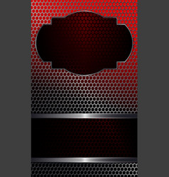 geometric background with metal grille and frames vector image