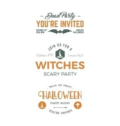 Halloween 2016 party invitation label templates vector image