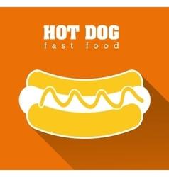 Hot dog fast food design vector image