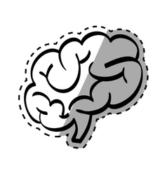 Human brain scribble vector