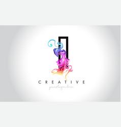 I vibrant creative leter logo design with vector