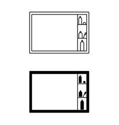 icon of bathroom equipment icon vector image