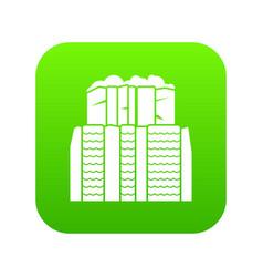 iguazu falls argentina icon digital green vector image