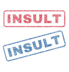 Insult textile stamps vector