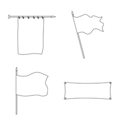 Isolated object blank and canvas sign set of vector
