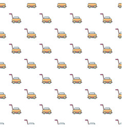 lawn mower machine pattern seamless vector image