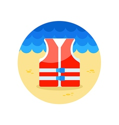 Life jacket icon Summer Vacation vector image