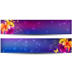 lily banners dark vector image