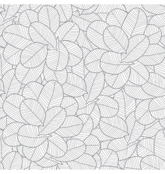 line art grey leaves texture seamless vector image