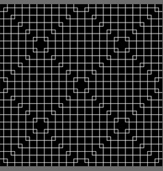 Line art squeras grid seamless pattern vector