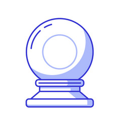 magic crystal sphere or glass ball icon vector image