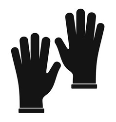 Medical gloves icon simple vector