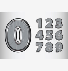 Numbers object scifi tech style vector