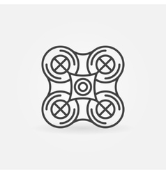 Quadrocopter emblem or icon vector image