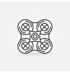 Quadrocopter emblem or icon vector