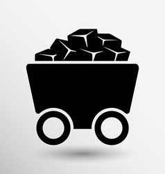 Rail Wagon icon button logo symbol concept vector image