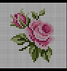 Rose mosaic tile pattern a vector