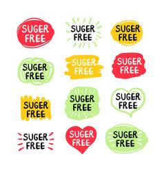 set sugar free labels vector image