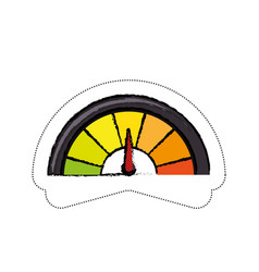 speedmeter icon image vector image